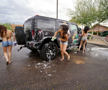 Charity Bikini Car wash photos